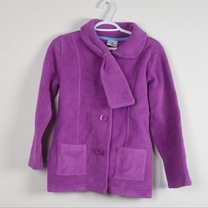 Hannah Andersson Purple Kids Coat 150 Fleece